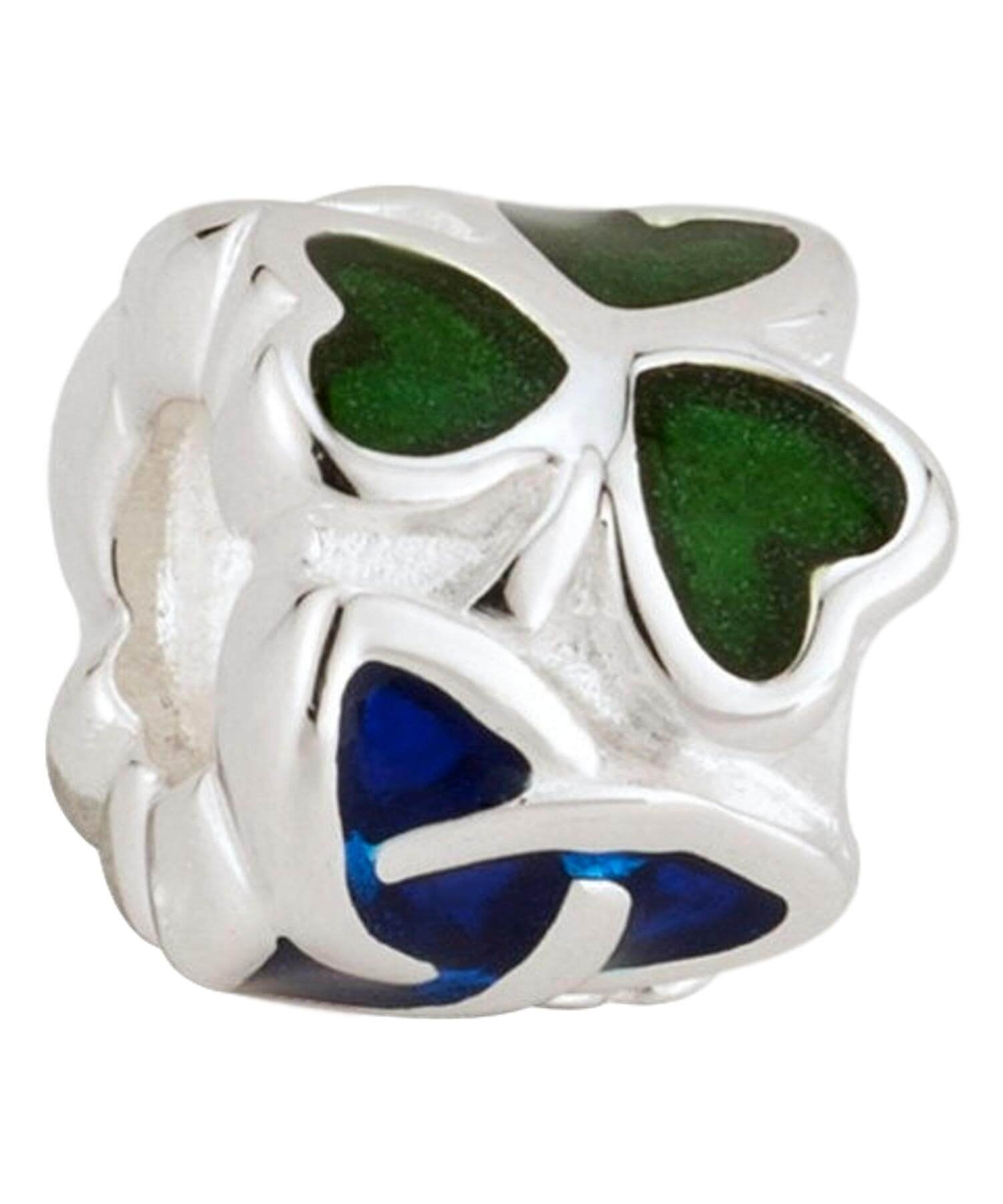 Bead - Shamrock & Trinity Knot - [Solvar] - Jewellery - Irish Gifts