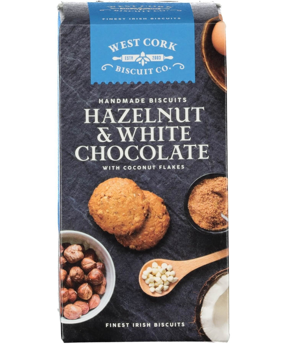 Hazelnut & White Chocolate Chip Cookies - [West Cork Biscuit Co.] - Food Gifts - Irish Gifts