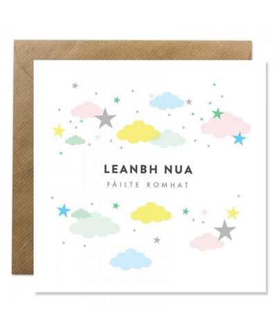 Greeting Card - Leanbh Nua - [Bold Bunny] - Greeting Cards - Irish Gifts