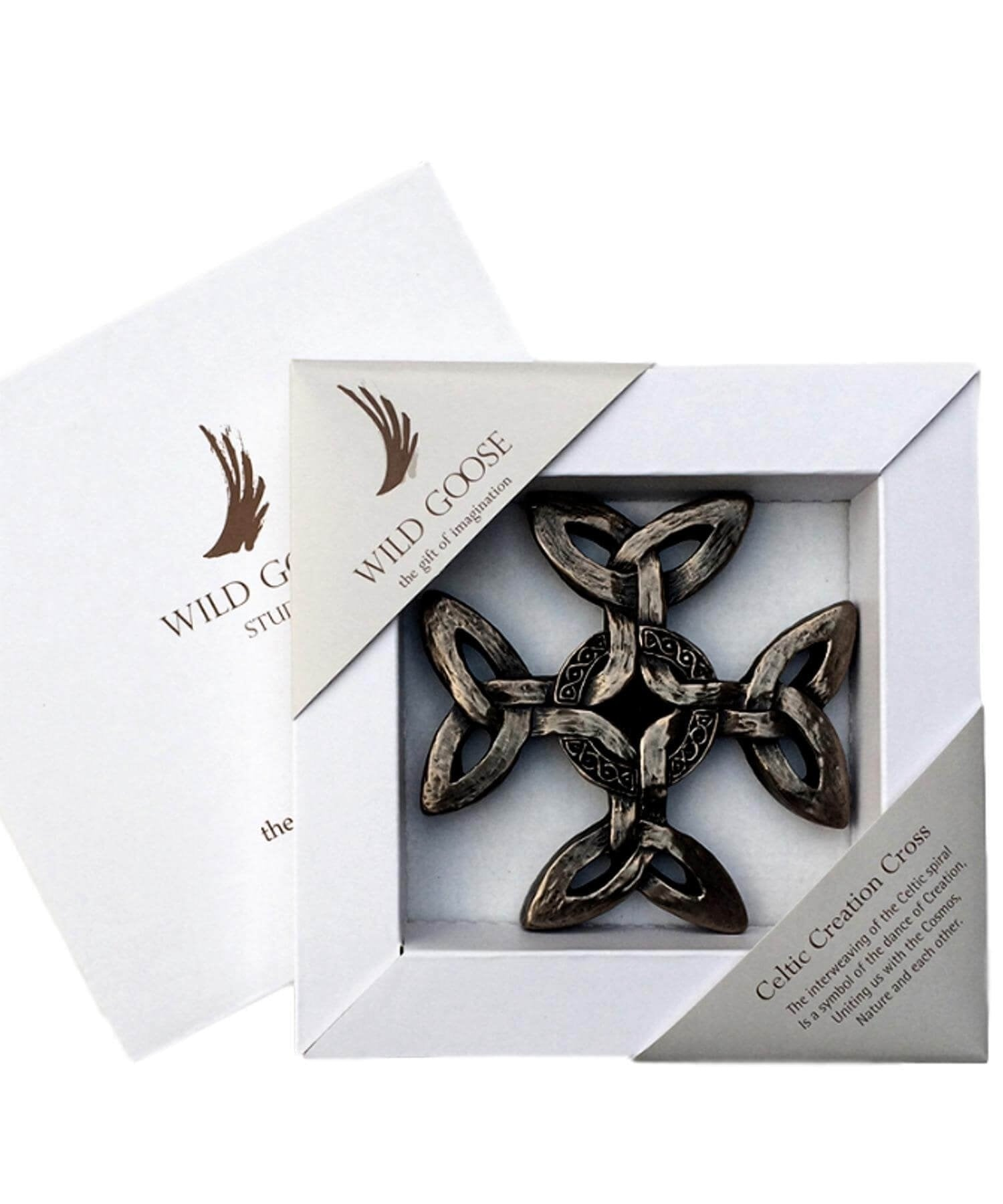 Boxed Plaque - Celtic Creation Cross - [Wild Goose] - Wall Art & Photography - Irish Gifts