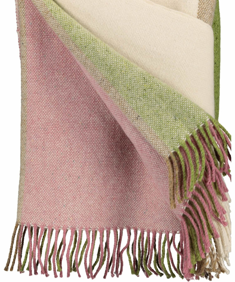Handwoven Shannon Callows Throw - Mint - [Studio Donegal] - Throws & Cushions - Irish Gifts