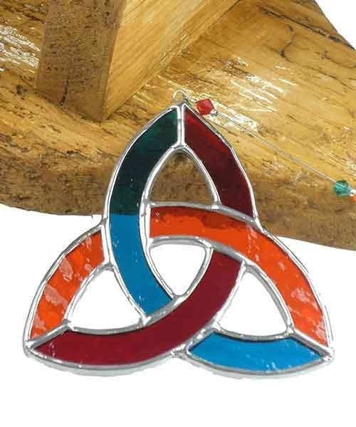 Stained Glass Small Triquetra - Multi Ard aLume Souvenir