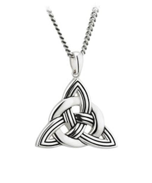 Oxidised Trinity Knot Necklace - [Solvar] - Jewellery - Irish Gifts