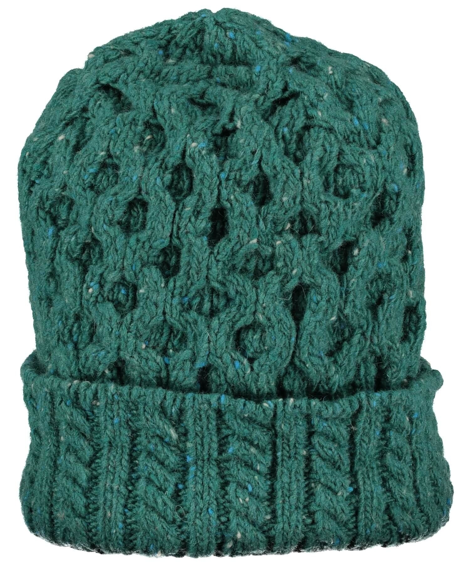 Luxe Aran Hat - Green Garden - [Irelands Eye] - Ladies Hats & Headbands - Irish Gifts