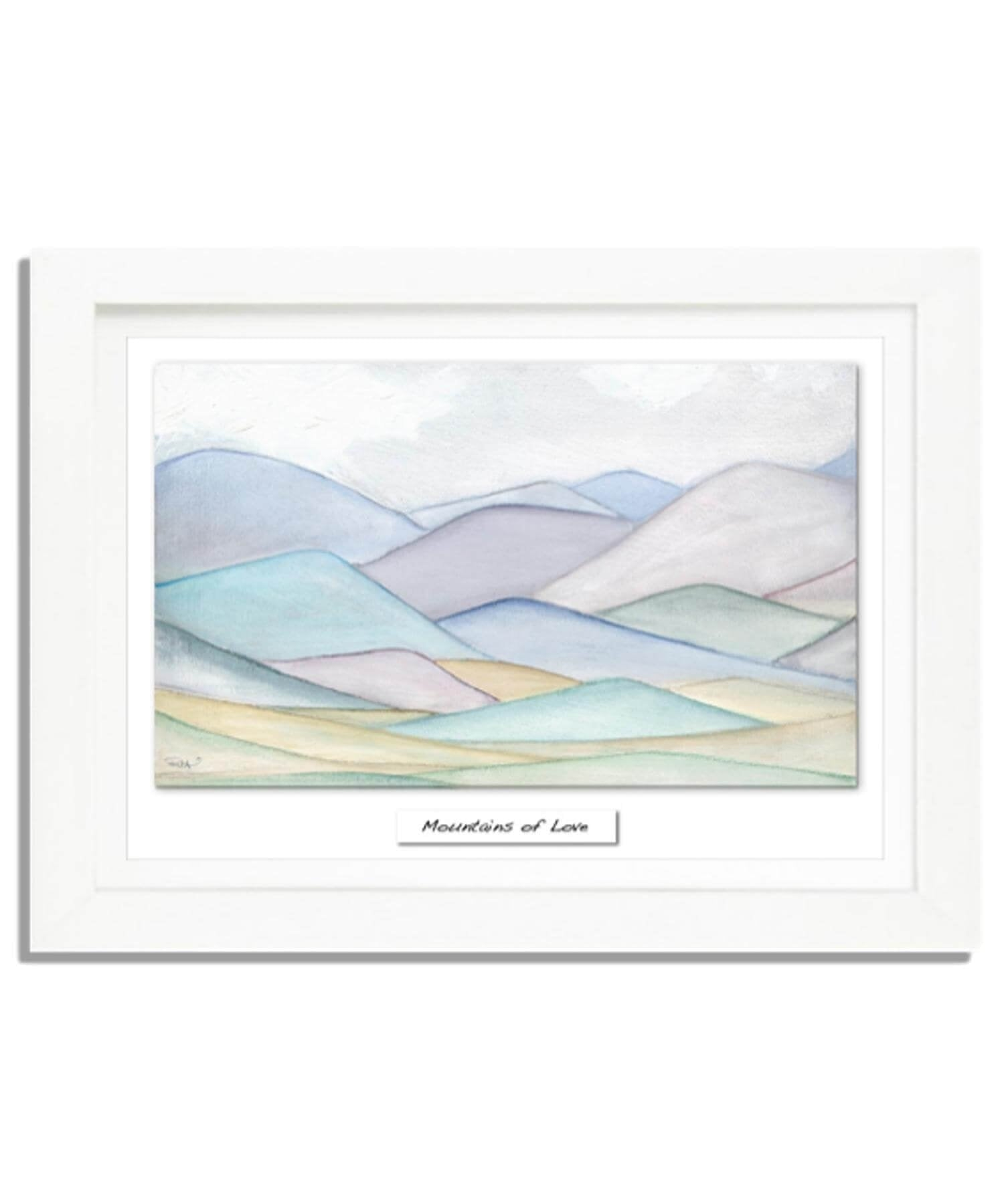 Large Framed Print - Mountains of Love Rita Oates Wall Art Prints & Photography