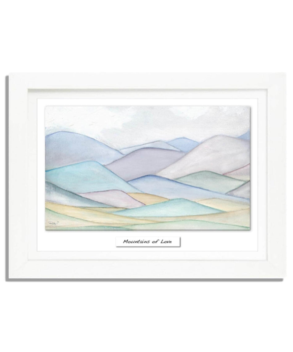Small Framed Print - Mountains of Love - [Rita Oates] - Wall Art & Photography - Irish Gifts