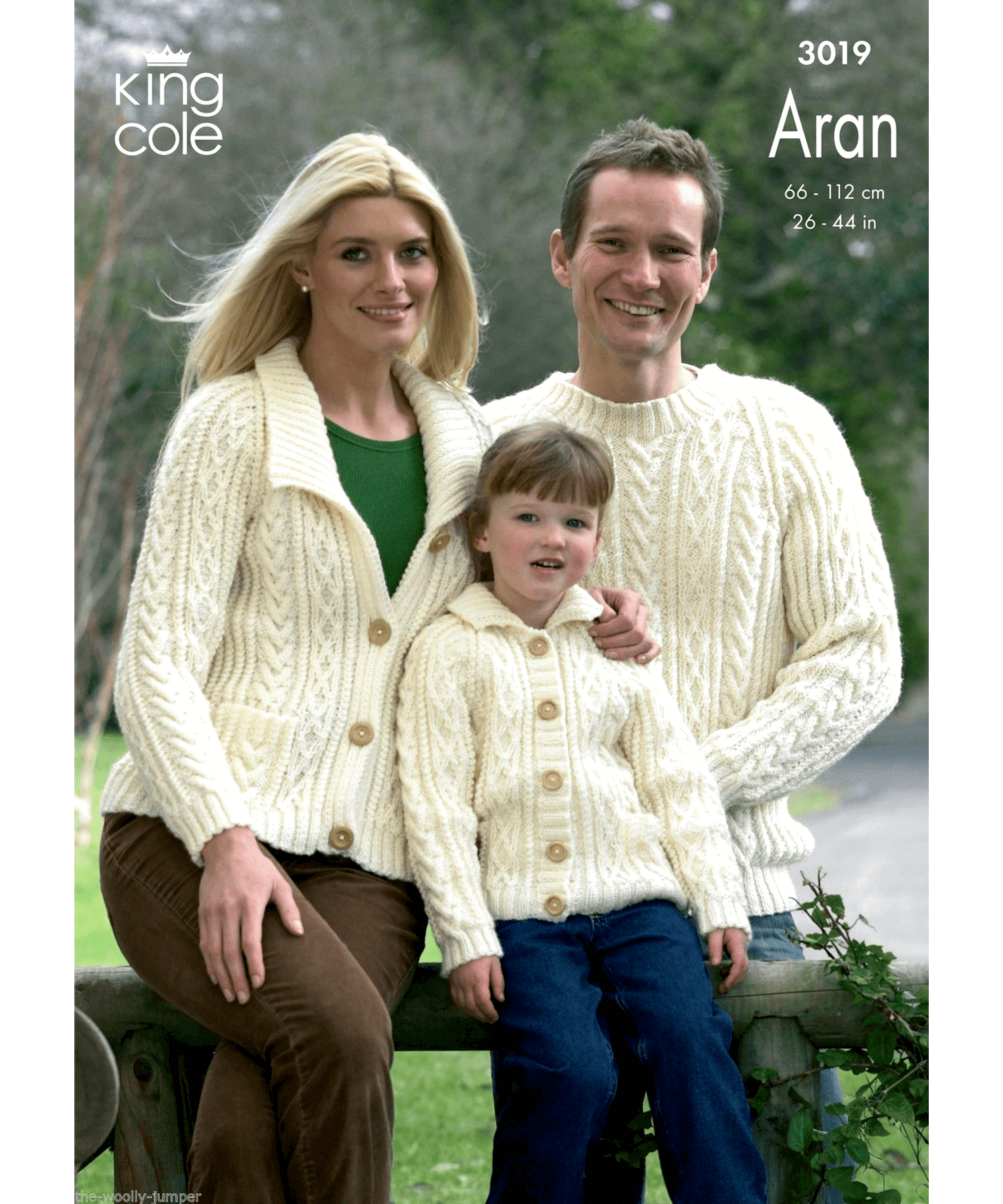 King Cole Aran Pattern 3019 - [Springwools] - Knitting - Irish Gifts