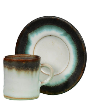 Espresso Cup & Saucer Set - [Sliding Rock] - Pottery & Ceramics - Irish Gifts