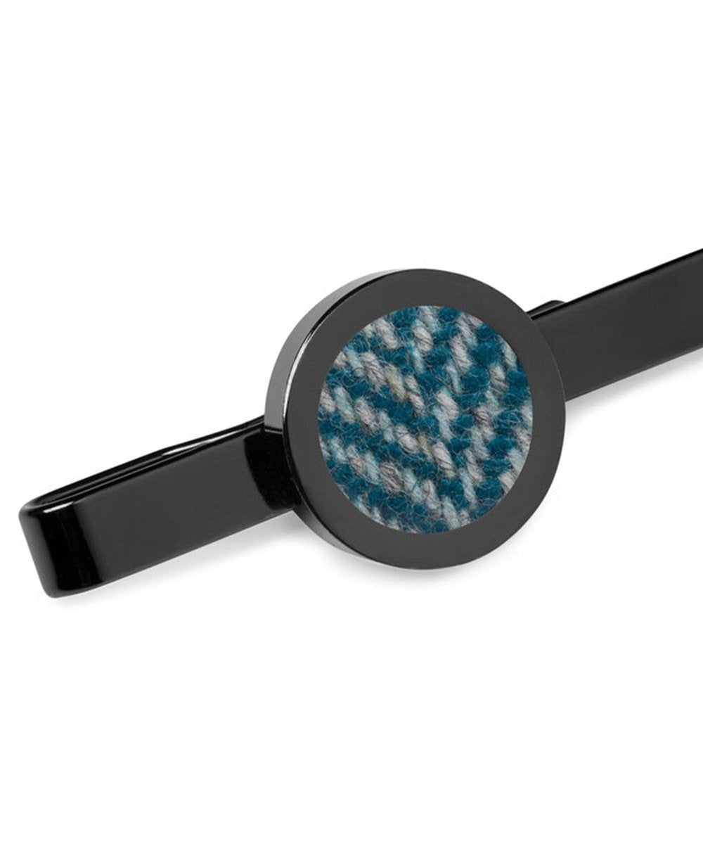 Donegal Tweed Tie Clip - Stippled Turquoise - [Orwell & Browne] - Mens Accessories - Irish Gifts