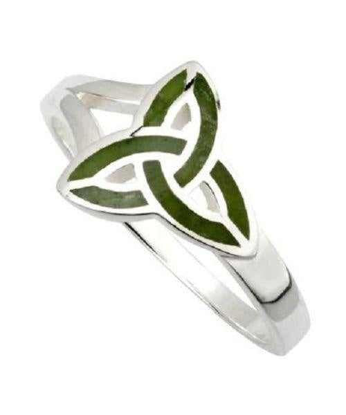 Connemara Marble Trinity Ring - [Solvar] - Jewellery - Irish Gifts