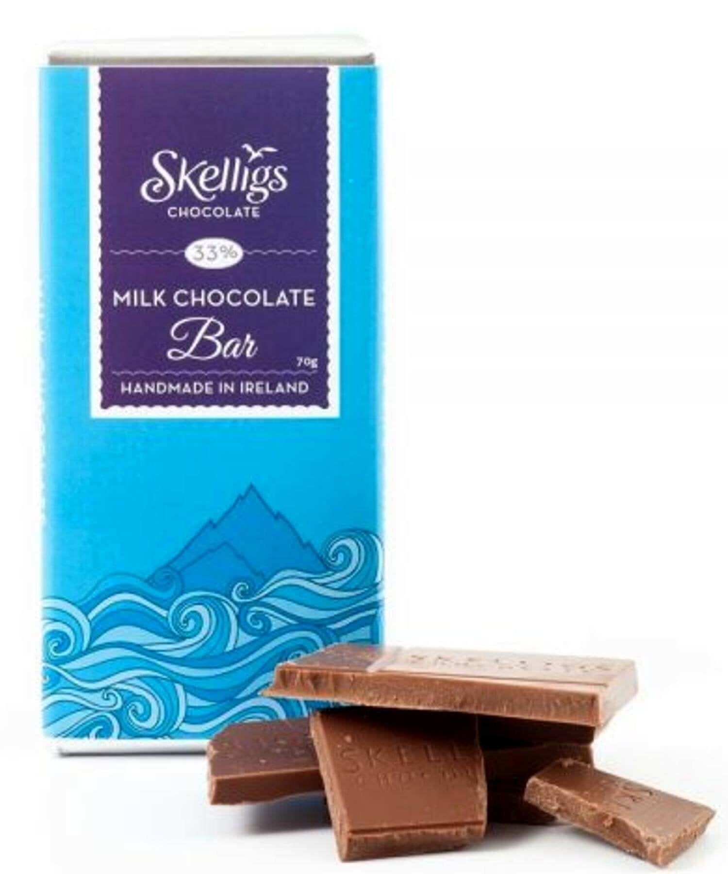 Chocolate Bar - Milk Chocolate - [Skelligs Chocolate] - Food Gifts - Irish Gifts