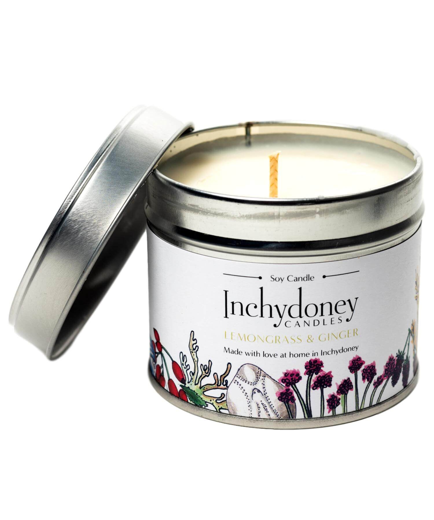 Travel Candle - Lemongrass & Ginger - [Inchydoney Candles] - Home Fragrance - Irish Gifts
