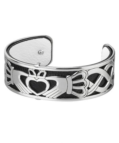Claddagh Black Cuff Solvar Celtic Jewellery