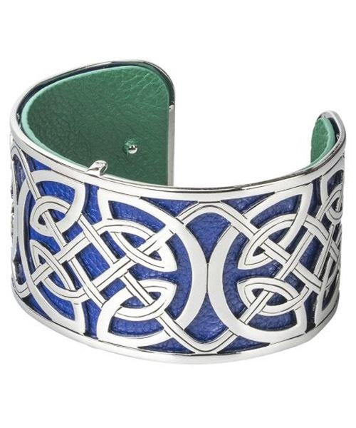 Celtic Knot Blue Cuff - Wide Solvar Jewellery