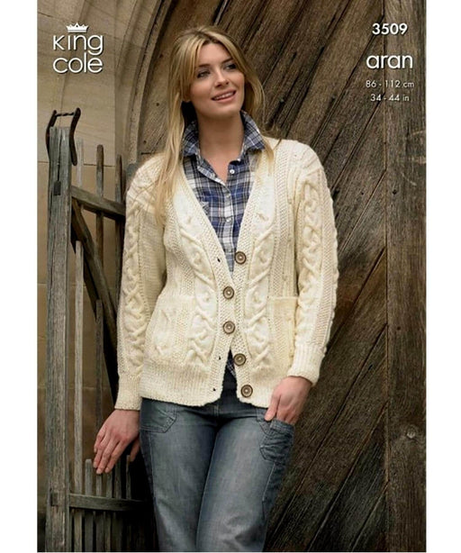King Cole Aran Pattern 3509 Springwools Knitting