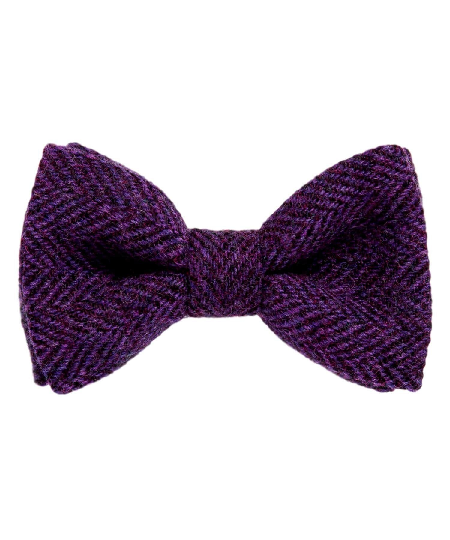 Donegal Tweed Bow Tie - Royal Purple - [Orwell & Browne] - Mens Accessories - Irish Gifts