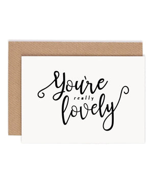 Greeting Card - You're Lovely - [Under the Willow] - Greeting Cards - Irish Gifts