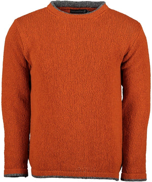 Roundstone Sweater - Terra Cotta - [Irelands Eye] - Mens Sweaters & Cardigans - Irish Gifts