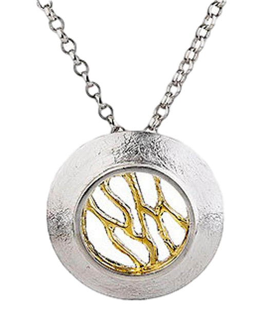 Woven - Silver Pendant (small) Garrett Mallon Celtic Jewellery