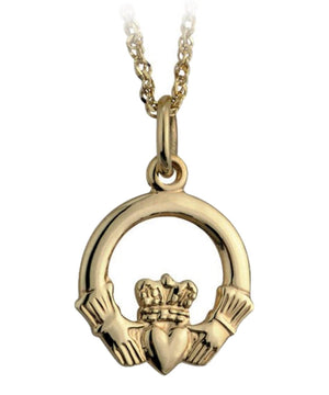 Gold Claddagh Pendant - [Solvar] - Jewellery - Irish Gifts