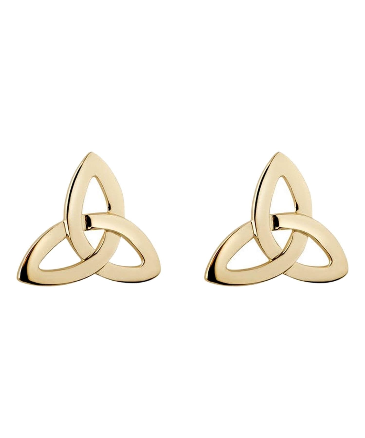 Gold Trinity Knot Earrings Solvar Celtic Jewellery