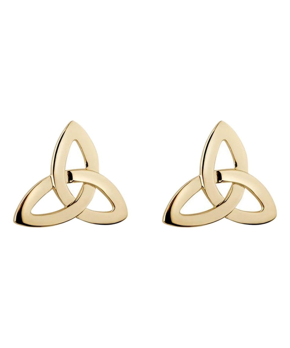 Gold Trinity Knot Earrings - [Solvar] - Jewellery - Irish Gifts
