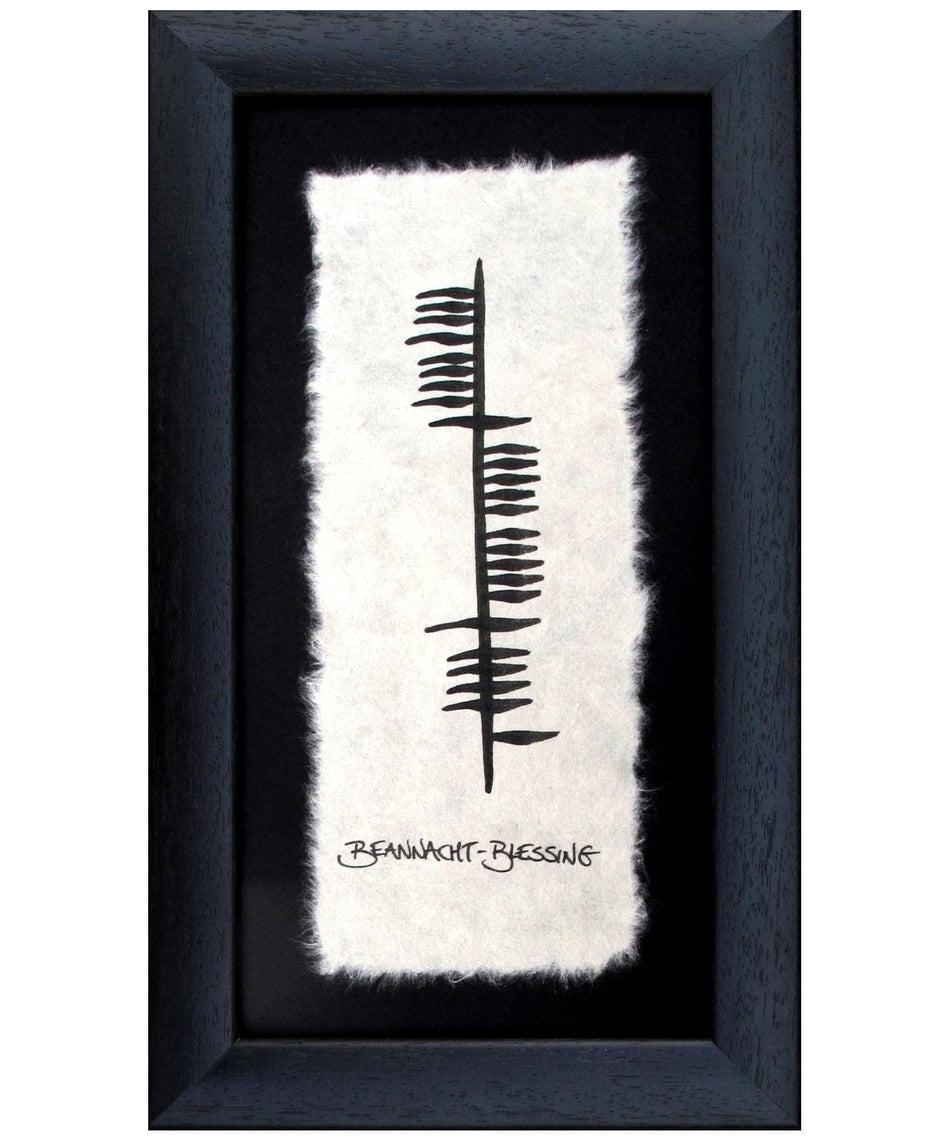 Ogham - Blessing - [Ogham Wishes] - Wall Art & Photography - Irish Gifts