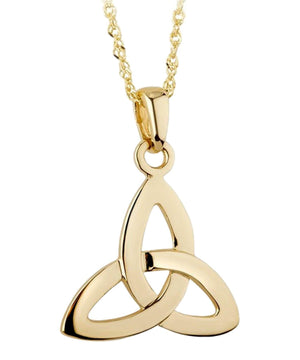 Gold Trinity Knot Pendant - [Solvar] - Jewellery - Irish Gifts