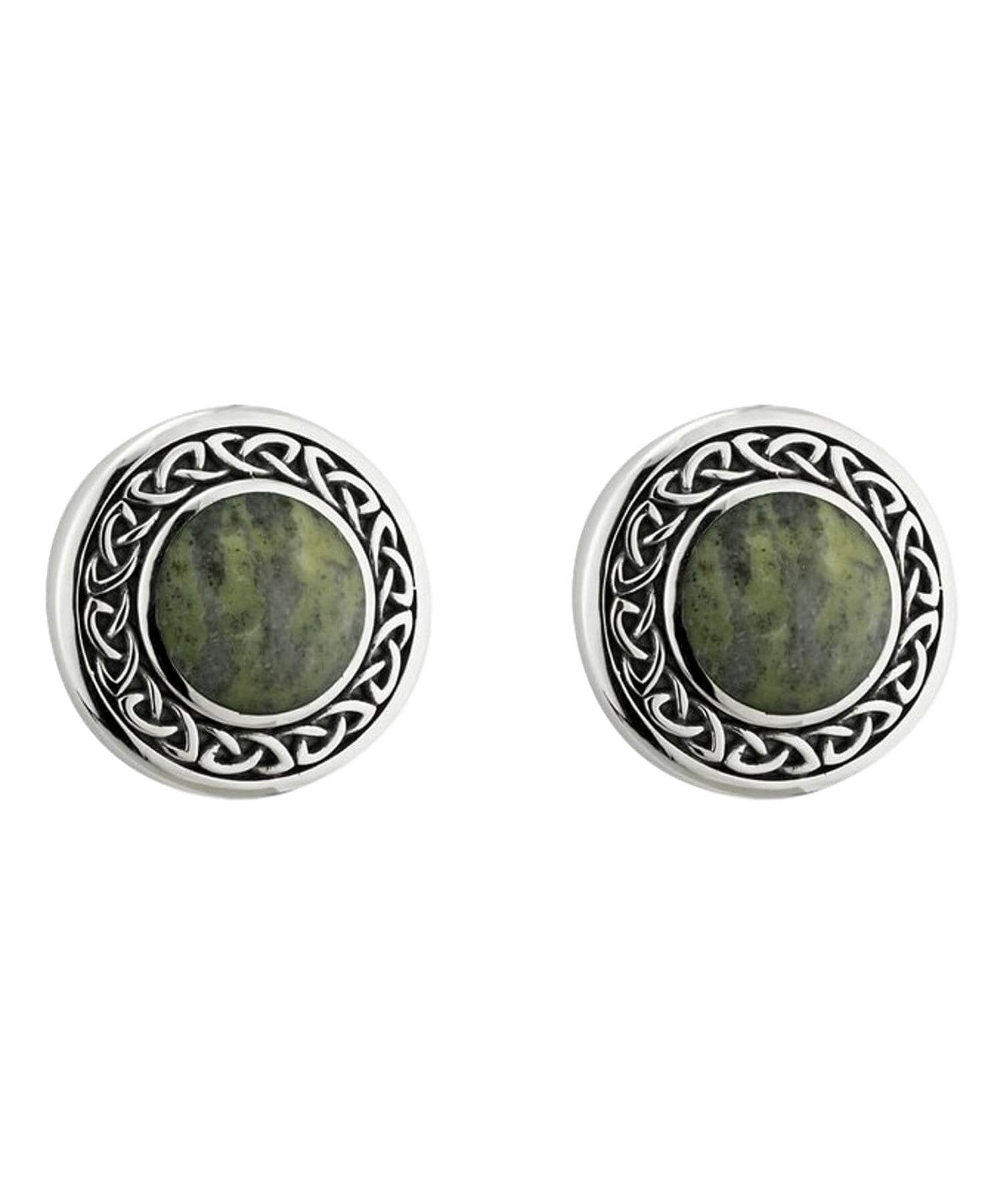 Connemara Marble Stud Earrings Solvar Celtic Jewellery