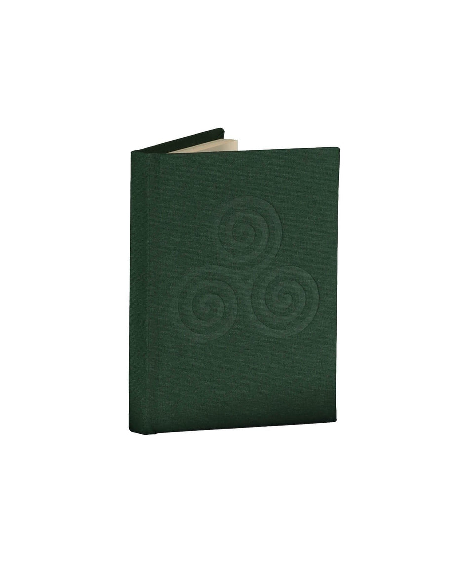 Triskele Knot Pocket Notebook - Emerald - [Duffy Bookbinders] - Books & Stationery - Irish Gifts