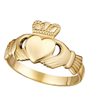 Gold Maids Claddagh Ring - [Solvar] - Jewellery - Irish Gifts