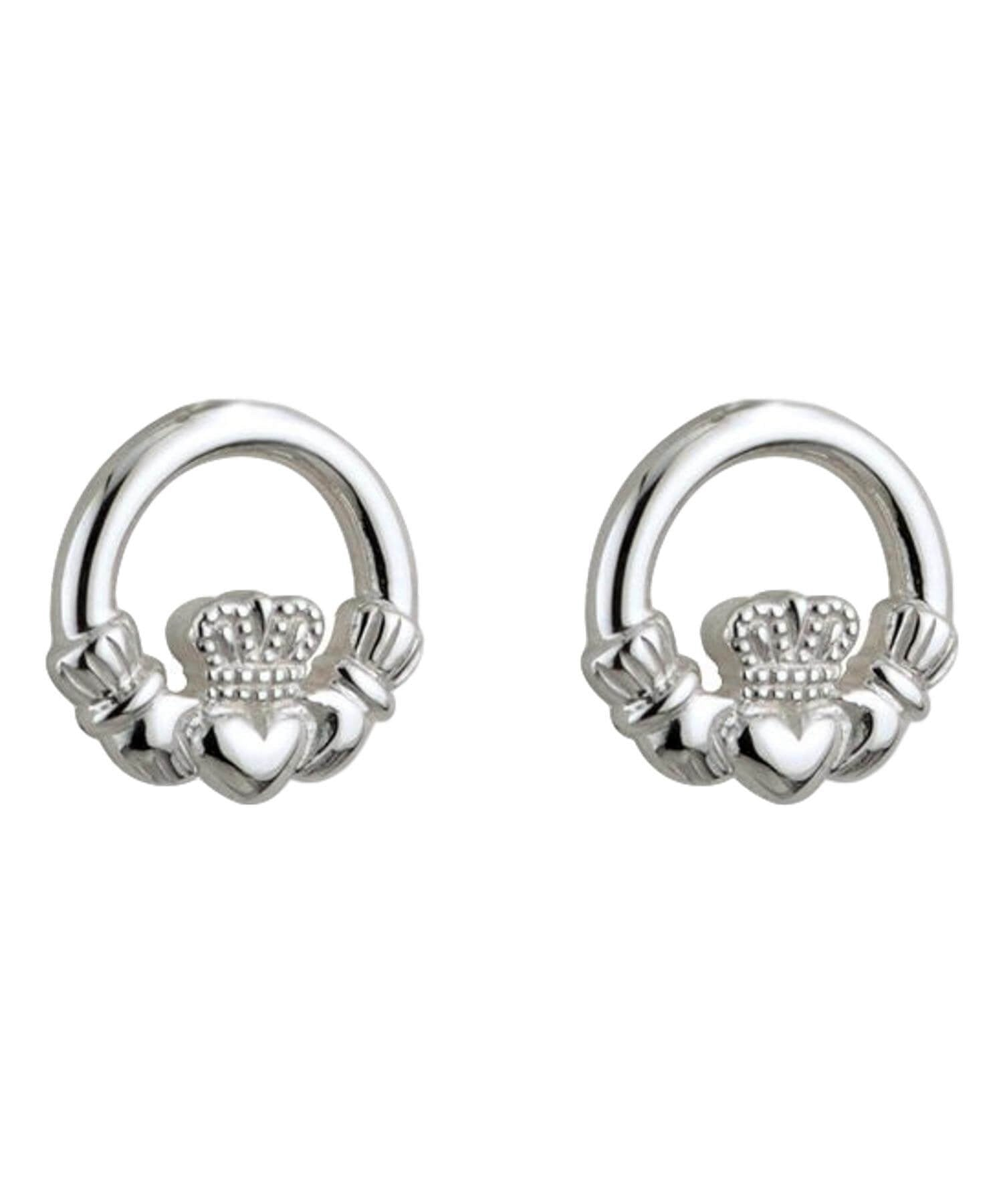 Solvar Kids - Claddagh Stud Earrings Celtic Jewellery