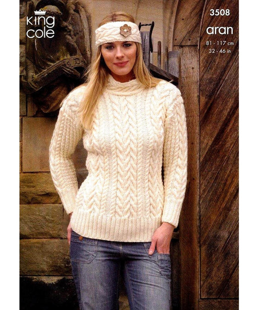 King Cole Aran Pattern 3508 Springwools Knitting