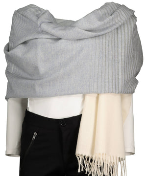 Lambswool Pashmina - Misty Grey - [McNutts] - Ladies Scarves & Gloves - Irish Gifts