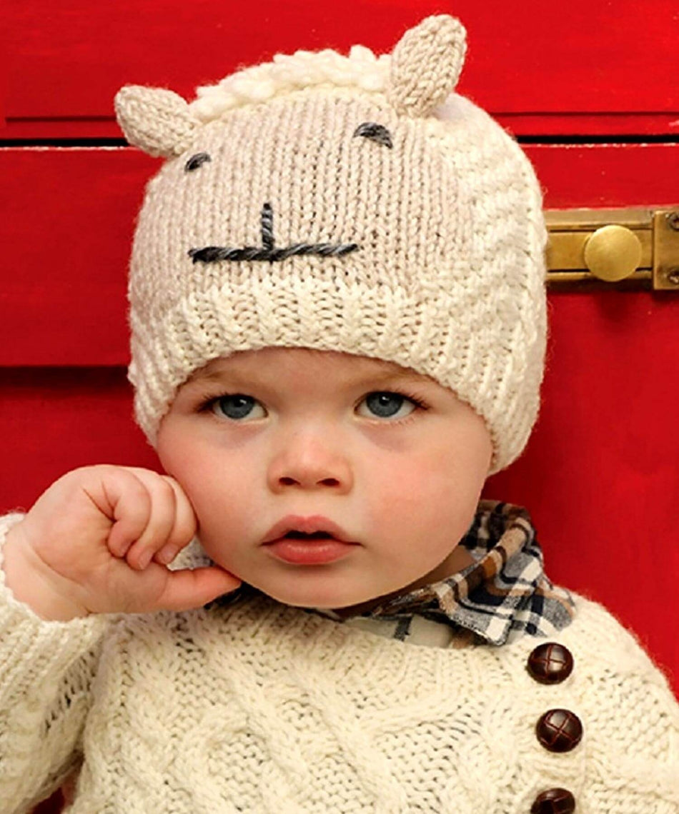 Baby Shepley Hat - [Aran Woollen Mills] - Childrens Hats, Scarves & Gloves - Irish Gifts