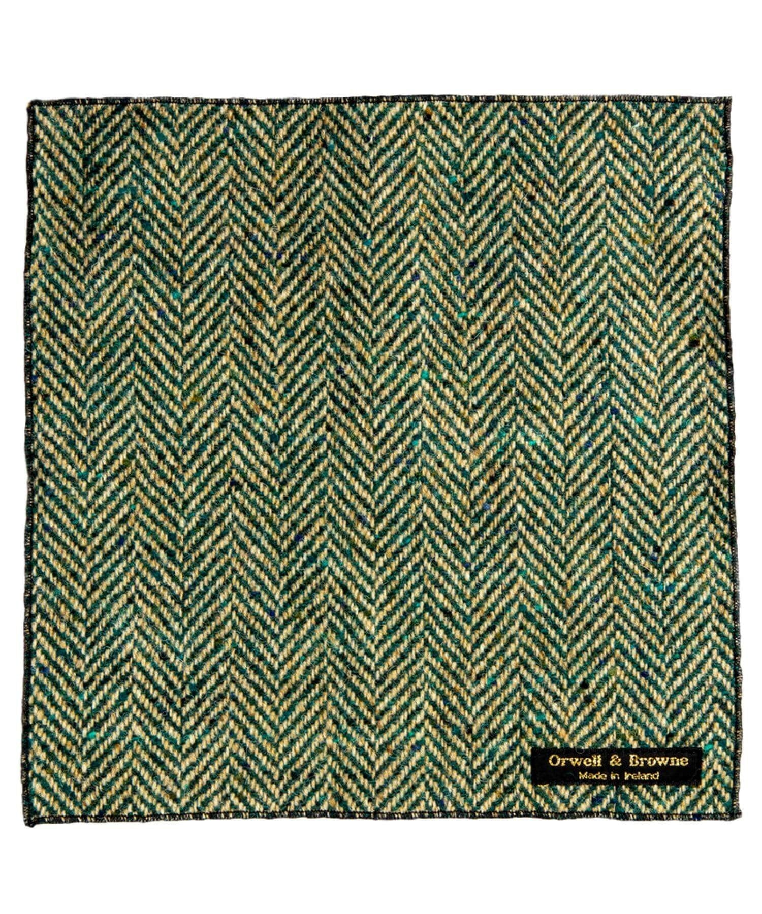 Donegal Tweed Pocket Square - Pine - [Orwell & Browne] - Mens Accessories - Irish Gifts
