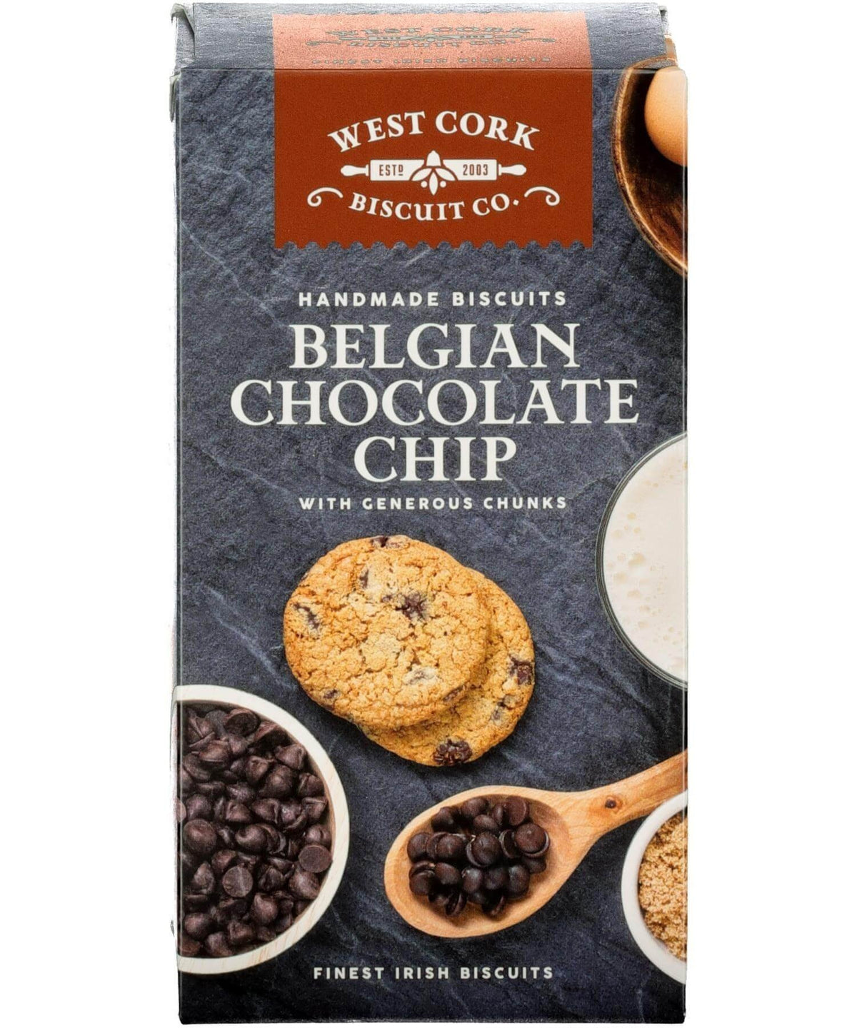 Belgian Chocolate Chip Cookies West Cork Biscuit Co. Food Gifts
