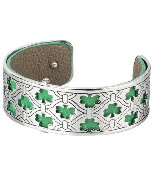 Shamrock Green Cuff Solvar Celtic Jewellery