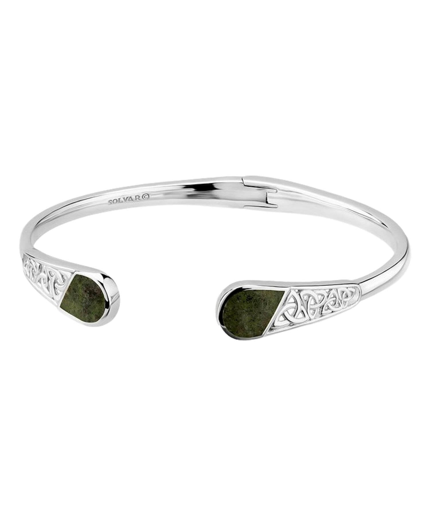 Connemara Marble Bangle Solvar Celtic Jewellery