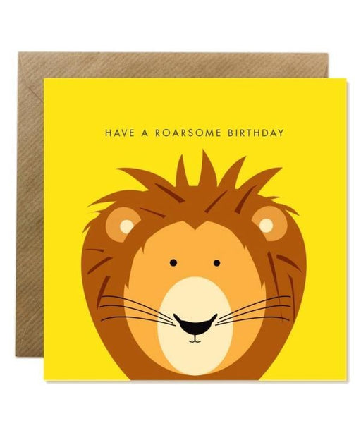 Greeting Card - Have A Roarsome Birthday Bold Bunny Cards