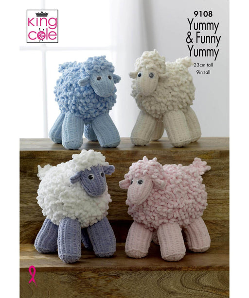 KinCole - Yummy Sheep Pattern - 9108 Springwools Knitting