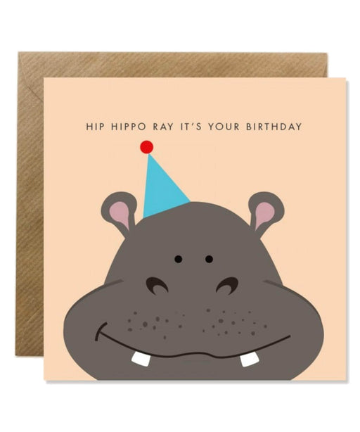Greeting Card - Hip Hippo Ray Bold Bunny Cards