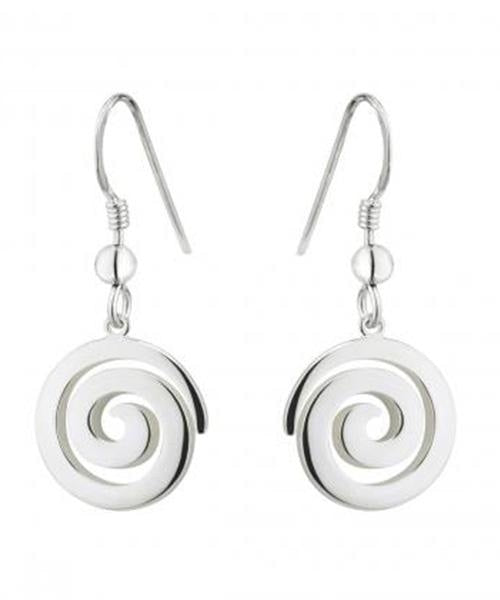 Spiral Drop Earrings Solvar Celtic Jewellery