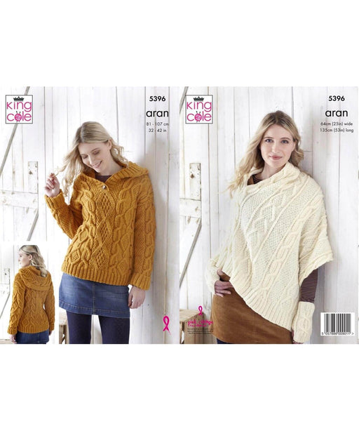 King Cole Aran Pattern 5396 Springwools Knitting