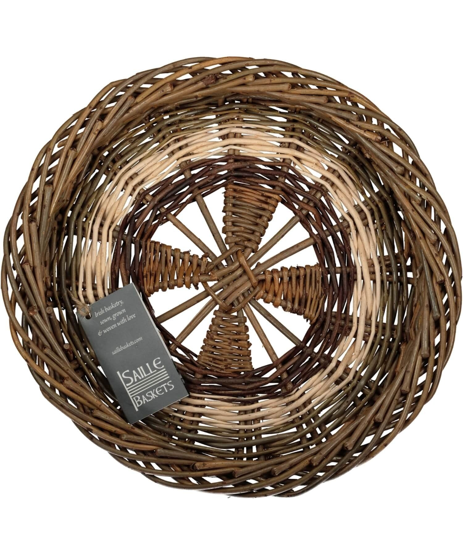 Irish Ciseog - Wheel (small) Saille Baskets Wood & Slate