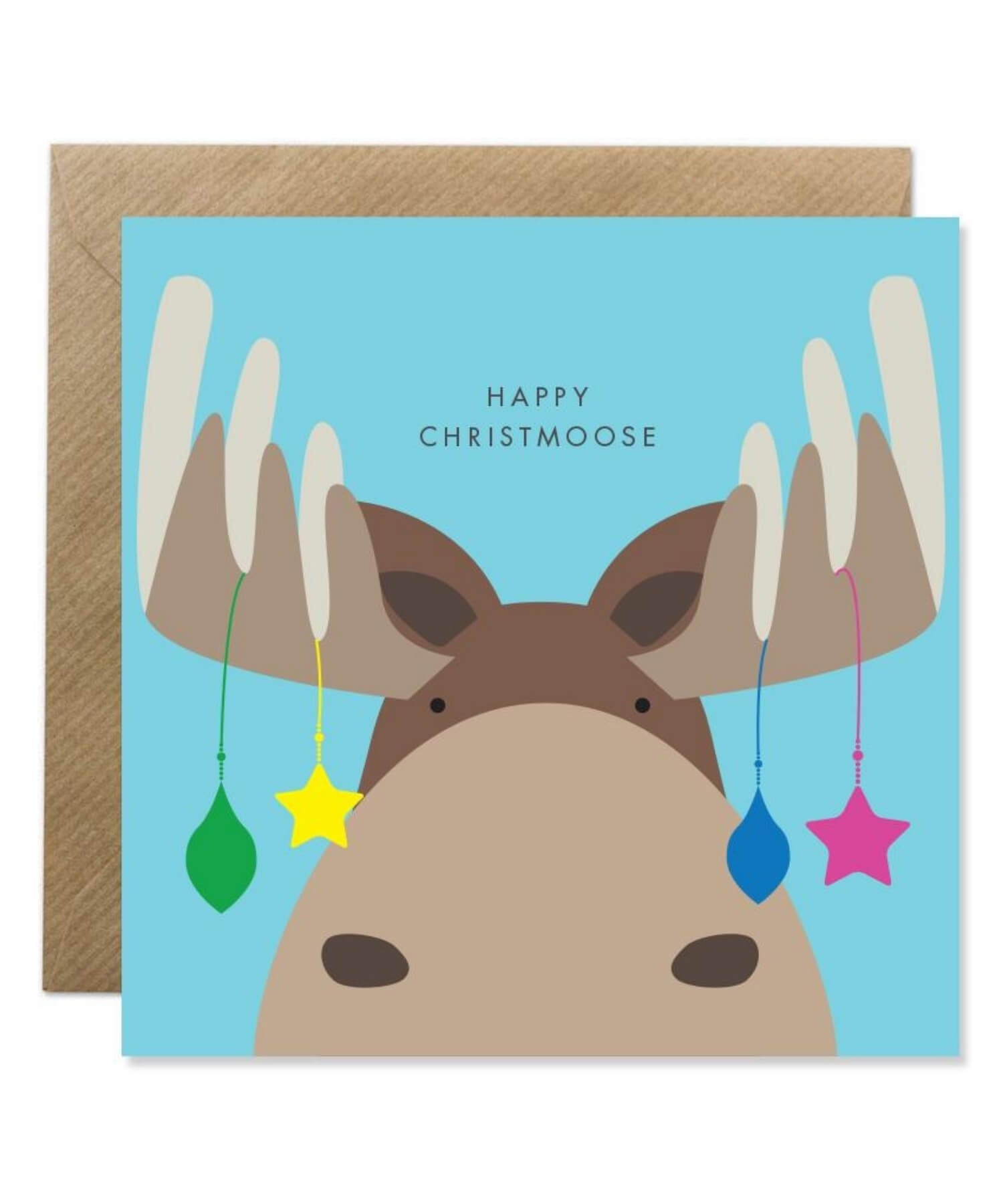 Greeting Card - Happy Christmoose - [Bold Bunny] - Greeting Cards - Irish Gifts