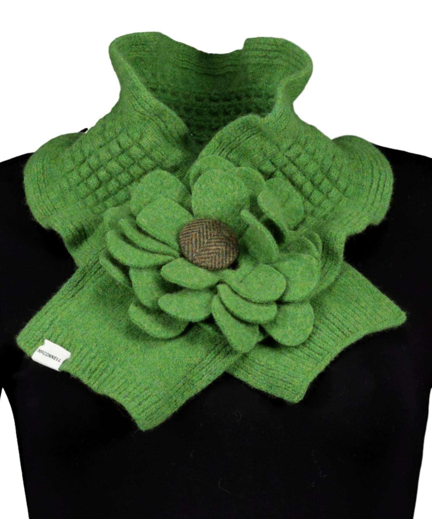 Floral Collar - Lime - [McConnell] - Ladies Scarves & Gloves - Irish Gifts