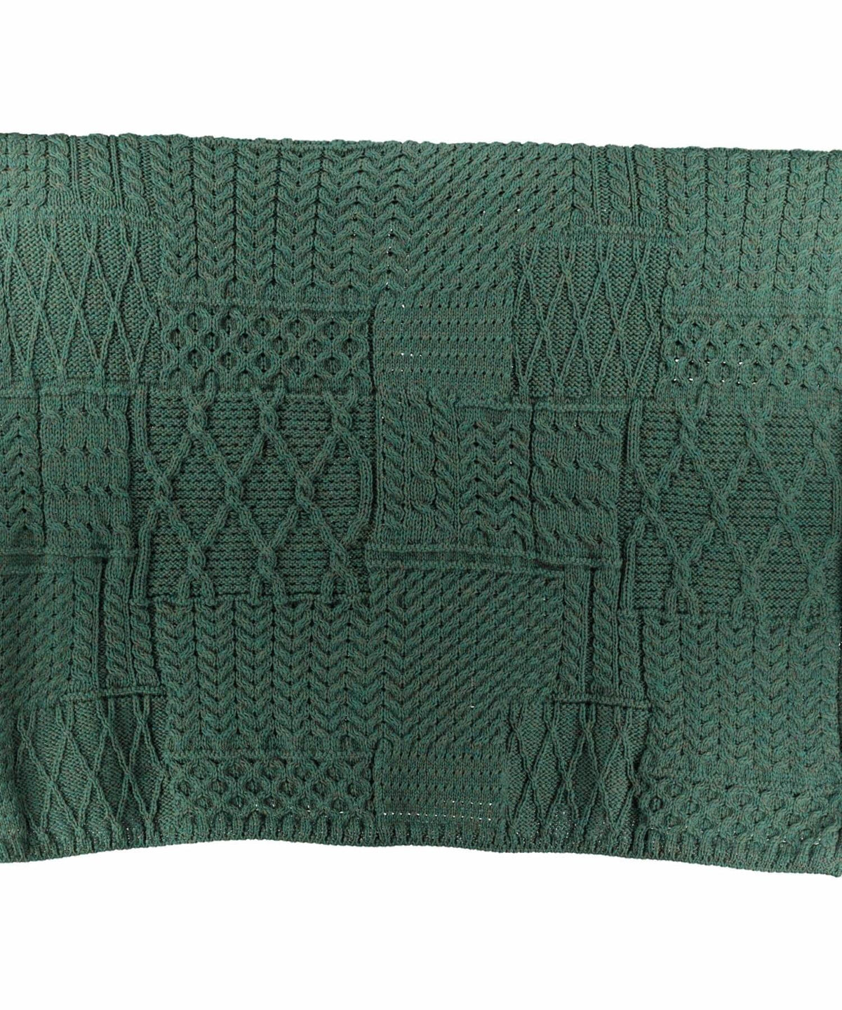 Plaited Aran Merino Throw - Connemara Green Woollen Mills Throws & Cushions