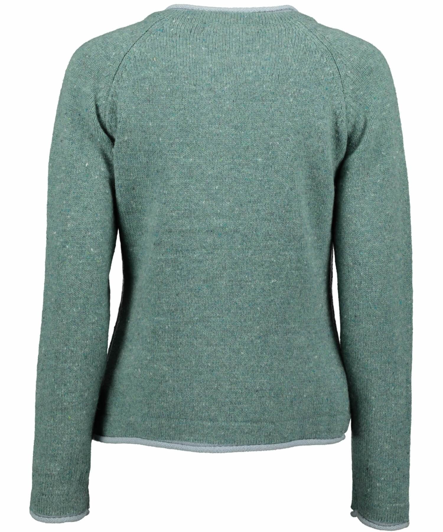 Killiney Cardigan - Seagreen Marl - [Irelands Eye] - Ladies Sweaters & Cardigans - Irish Gifts
