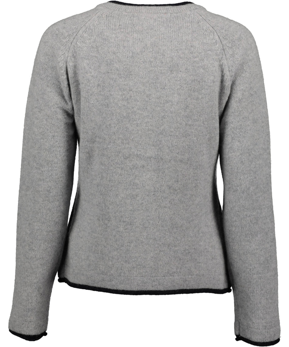 Killiney Cardigan - Silver - [Irelands Eye] - Ladies Sweaters & Cardigans - Irish Gifts